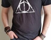 Deathly Hallows Harry Potter T-shirt grunge design men's T-shirt