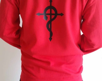 Full Metal Alchemist Edward Elric Zipped hooded sweatshirt