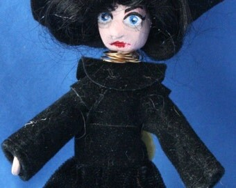 Tiny Collectible Witch Doll