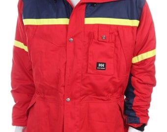 Rare VINTAGE 90s Helly Hansen Color Block Blue Red Yellow jacket Size L