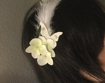 Played for bride with feather headband