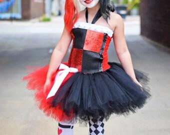 Harley Quinn outfit - Harley Quinn tutu dress -  Comic Con costume  Harley Quinn costume - tutu dress -  superhero villain - DC Comics