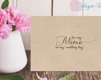 For my Mother Rustic note cards/ for my Mama on my wedding day note cards /Rustic, Kraft wedding day notes/to my mom on my wedding day