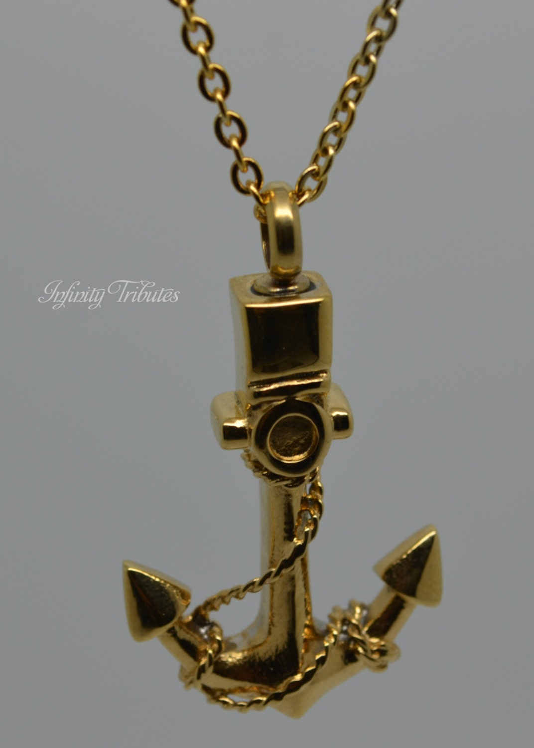 Cremation urn pendant keepsake charm necklace 24k gold for Jewelry to hold cremation ashes