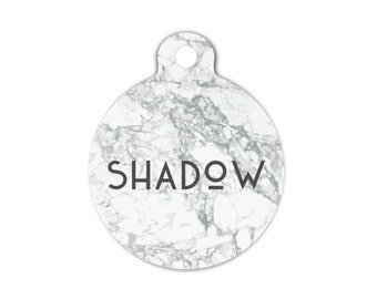 Faux Marble Dog Tag for Dogs, Marble Pet Id Tag, Marble Cat Tag, Trendy Dog Tag, Modern Dog Tag, Small Dog Tag, Collar Tag for Dogs, Large