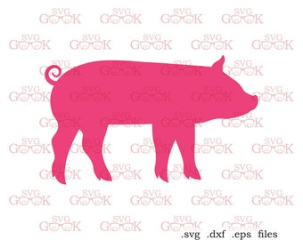 Pig SVG cut file for use with Silhouette, Cricut and other Vinyl Cutters, digital cut file, svg file, instant download