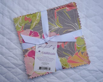 "Pagoda Lullaby - 6"" Charm Pack - 30 pieces - Tina Givens - Free Spirit Fabric"