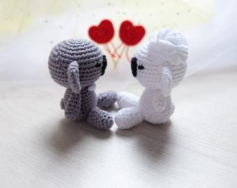 Crochet koala couple. Wedding gift. Koala groom and bride. Wedding table decoration. Koala amigurumi. Gift for her. Gift for him.