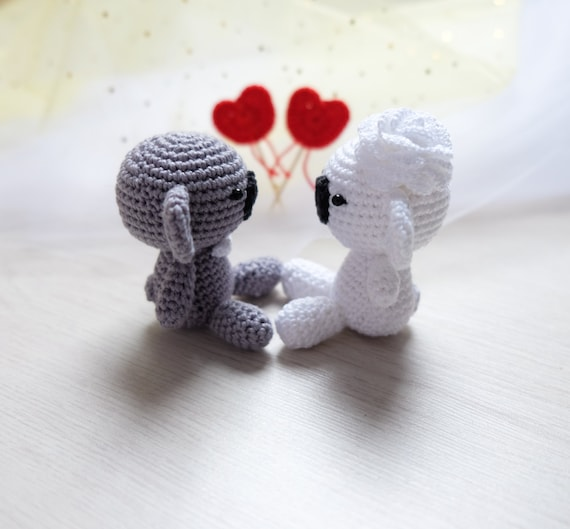 couple de koala en crochet cadeau de mariage mari e et le. Black Bedroom Furniture Sets. Home Design Ideas