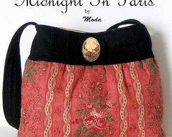 Midnight in Paris PURSE / BAG Handbag KIT - Moda 3 Sisters Fabric + Pattern // Comes w/ 2 Style Options