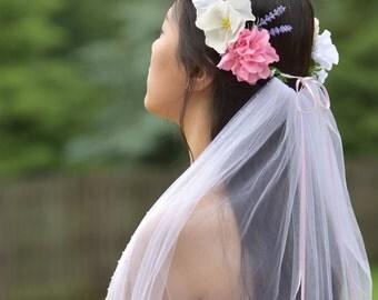 Bridal flower crown, Flower headband, Wedding flower crown, Wedding headband, Floral headpiece, Bridesmaid flower crown
