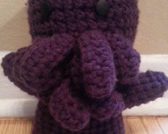 Cthulhu Amigurumi Plush- Purple Wobbly