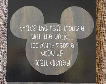 Walt Disney quote wooden sign