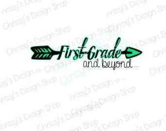 Back to school svg download / school svg / first grade svg / 1st grade svg / vinyl crafting / school clip art / arrow svg / arrow clipart