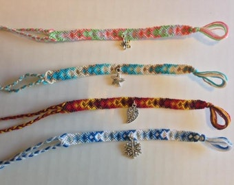 Seasonal Friendship Bracelets with charm