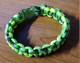8 inch green paracord bracelet