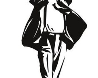 Michael Jackson Full Body Vinyl Decal, Walls, Windows, Glassware, ETC  Choose from 4 Sizes/Several Colors!