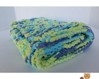 Baby Blanket - Green & Blue