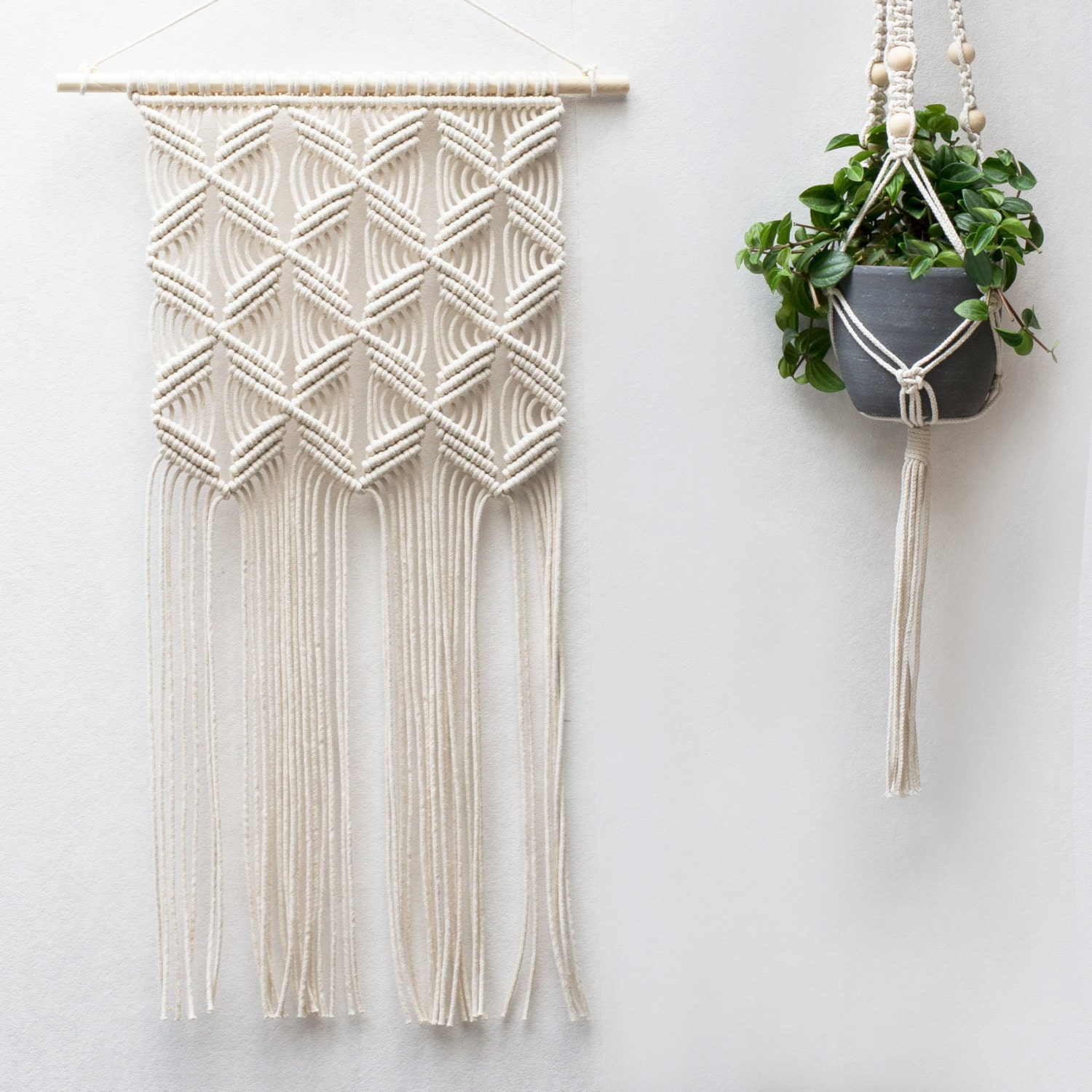Macrame wall hanging modern macrame weaving by for Wall hangings