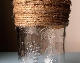 Top Twine Wrapped Mason Jar