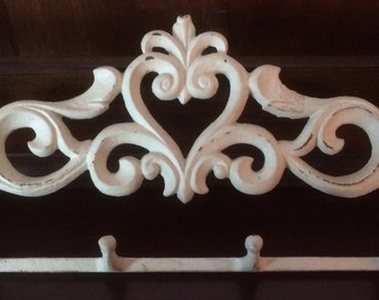 Vintage Cast Iron Scroll Coat Hook Set Wall Hooks
