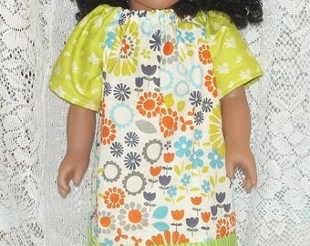 18 Inch Doll Clothes Peasant Dress Sandals