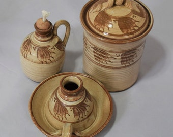 Collectible Kitchen Pottery Trio