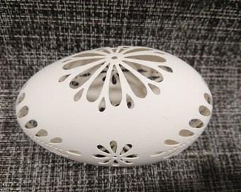 Eggshell of Polish goose - handmade sculpted #8
