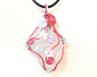 red sea glass jewelry