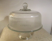Unique Cake Plate And Dome Related Items Etsy