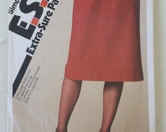 "Vintage 80's Simplicity 9620 Skirt Sewing Pattern Waist 24"" 25"" 26 1/2"""