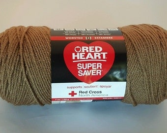 Red Heart Super Saver CAFE LATTE Yarn 7 oz Worsted Weight 4
