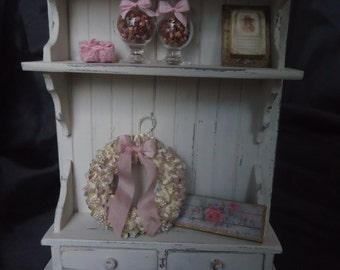 Shabby chic cabinet 1/12th scale