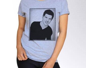 Taylor Lautner T Shirt - Gray - S M L