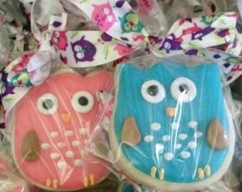 12 Owl Sugar Cookies