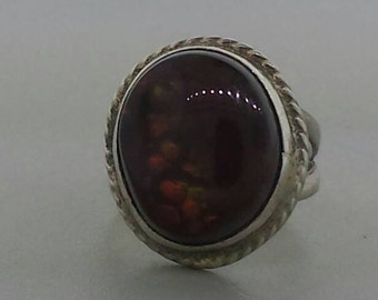 Fabulous Fire Agate Sterling Ring