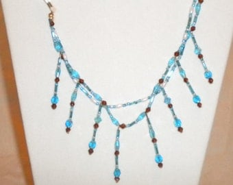 Western turquoise 2 strand necklace