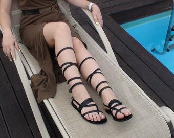 Gladiator sandals, Leather gladiator sandals, Knee high gladiator, Womens gladiator, Women sandals, Greek sandals, Handmade sandals, KYNTHIA