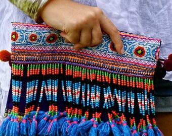 handmade, beaded clutch, fairtrade