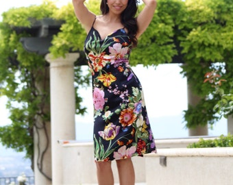 Slip into Silk Floral Dress