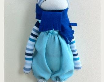 Blue pixie doll