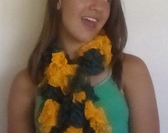 Green and gold Sashay scarf