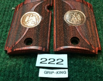 "Sig Sauer P 938 grips, walnut with antique copper Mexican centavos from 1920""s - 1940""s.sale! item #222"