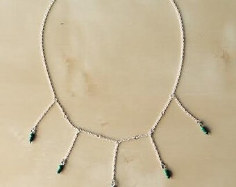 Green Inductors Necklace / Collar con Inductores verdes