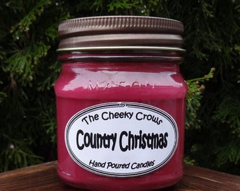 Christmas Candle, Cranberry Candle, Soy Candle, Scented Candle, Cranberry Orange Candle, Country Christmas, Soy Wax Candle, Secret Santa