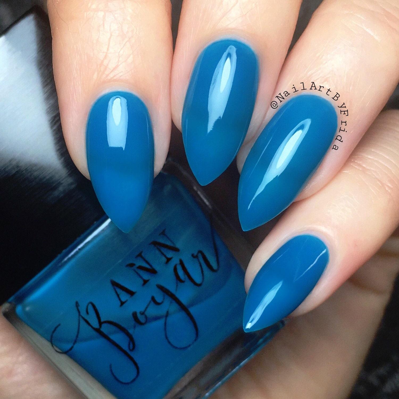 Blue Nail Polish Stained My Nails: Sky Blue Nail Polish, Luxury Nail Polish