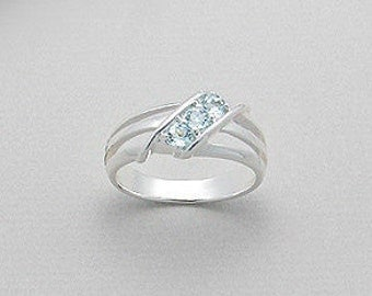 Sterling Silver & Sky Blue Topaz Ring
