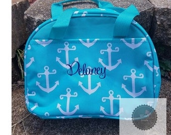 Aqua Anchor Lunch bag