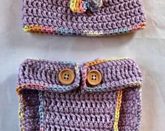 Crochet Lavender Diaper Cover