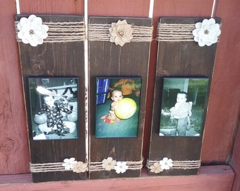 Rustic Picture Frame Set - Wood Picture Frames